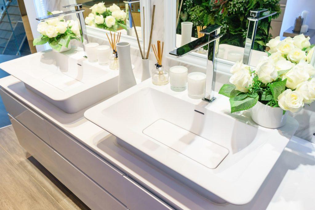 double bowl vanity