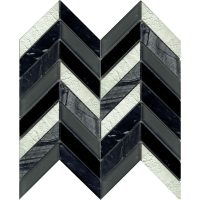 Art Deco Black Chevron 280 x 285