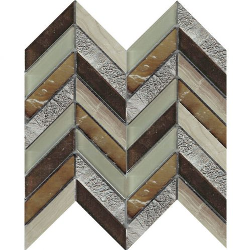 Art Deco Brown Chevron