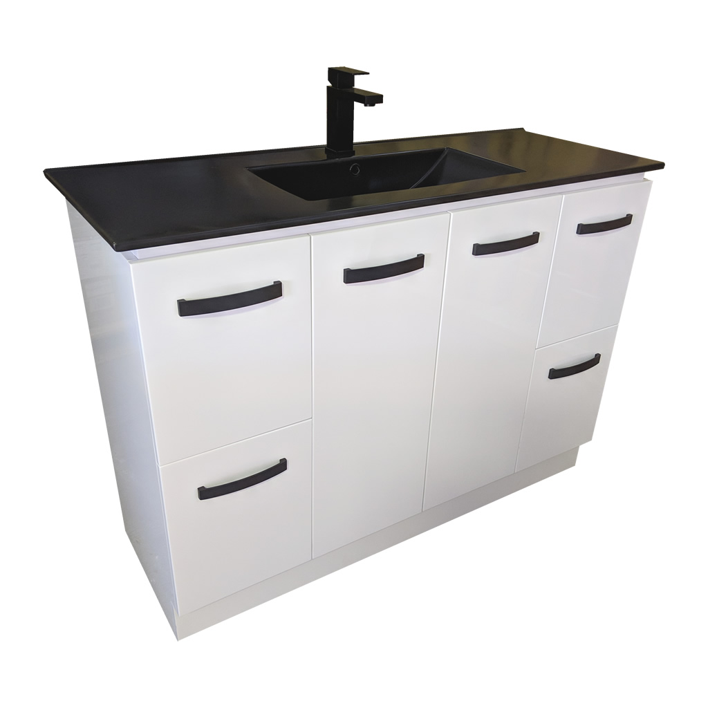 120cm Ceramic Vanity Top Matte Black Bathroom Vanity Tops Perth