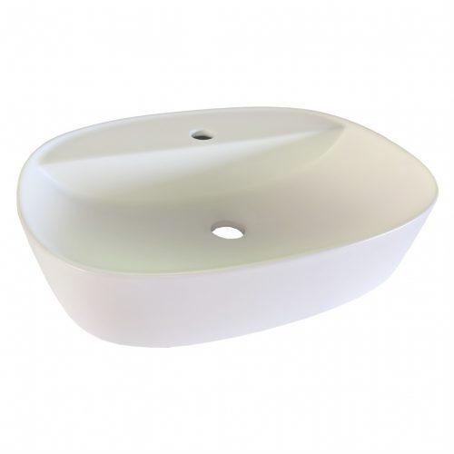 Cassino Vessel Matt White Bathroom Basin