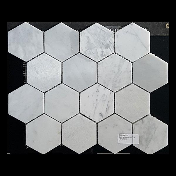 Tuscany Cararra Hexagon tile