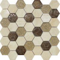 Civili Maya Hexagon Tile Mosaic Feature wall Perth Discount