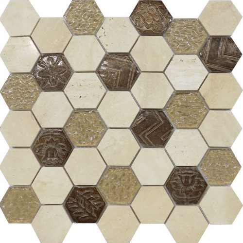 Civili Maya Hexagon Tile Mosaic Feature wall Perth Discount