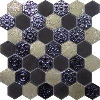 Civili Inca Hexagon mosaic