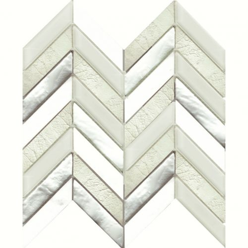 Art Deco White Chevron