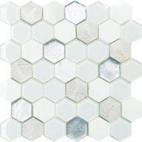 Art Deco White Hexagon
