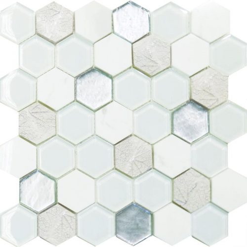 Art Deco White Hexagon