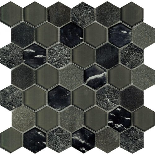 Art Deco Grey Hexagon