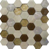 Art Deco Brown Hexagon