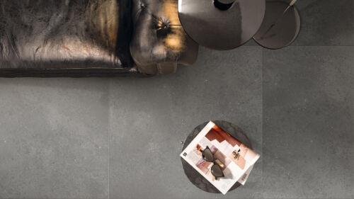 KMG Dark Grey tile installation