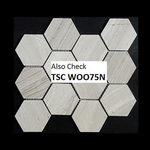 Tuscany Wood Light Grey 75mm Hexagon