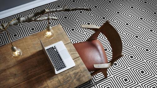 Luxello Black Ceramic Floor Tile