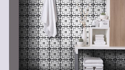 Esty Black Wall Tile