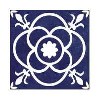 susan navy feature ceramic tile