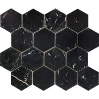 Tuscany Nero 75mm Hexagon