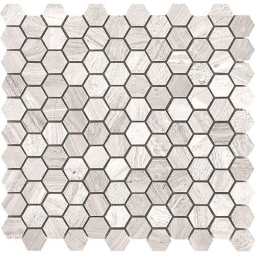 Tuscany Wood Light Grey 30mm Hexagon
