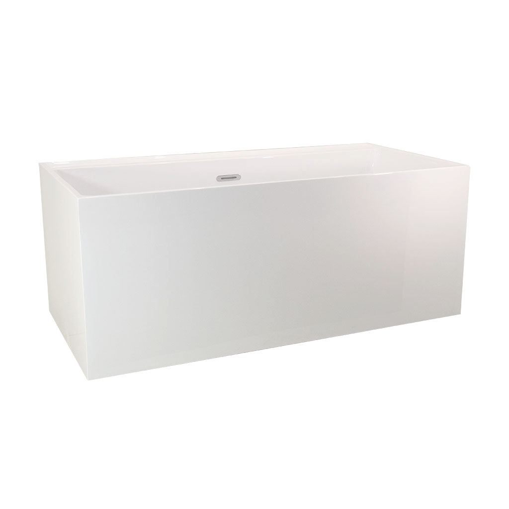 Cube Corner Freestanding Bath -Side view