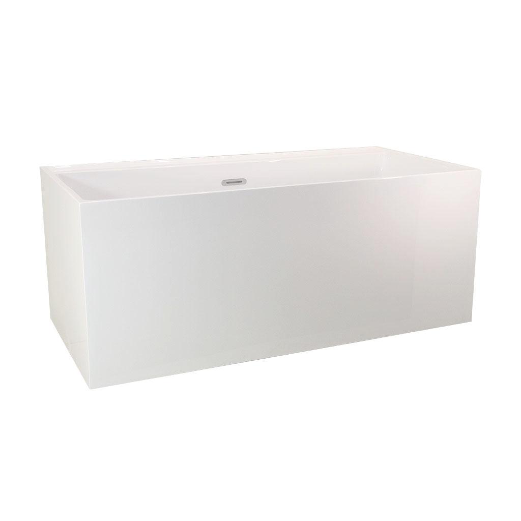 Cube Corner Freestanding Bath -Side view