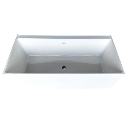 Cube Corner Freestanding Bath -Top view