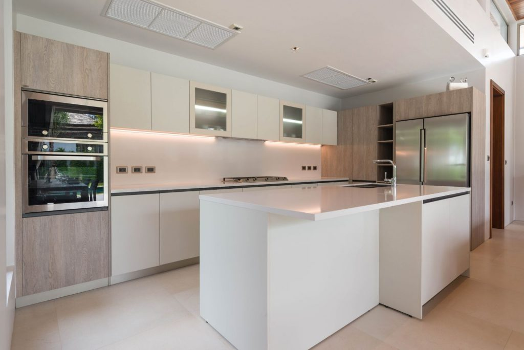 kitchen with wall oven