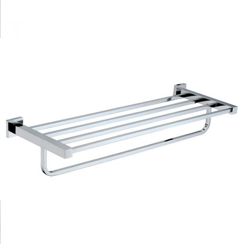 Square Towel Shelf and Rail