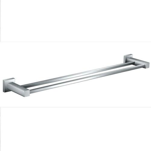 Square 900mm Double Towel Rail