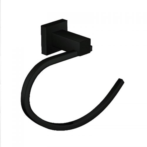 Black Square Towel Ring