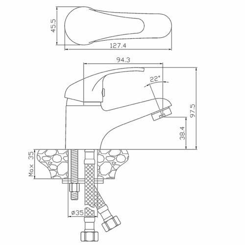 Kore 35 Basin Mixer Specs