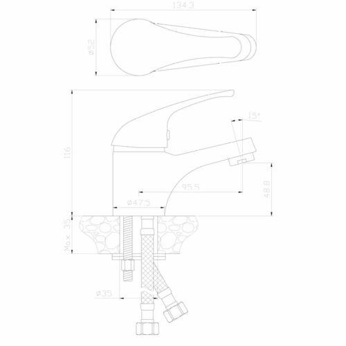 Kore 40 Basin Mixer Specs