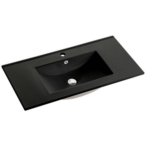 90cm Ceramic Vanity Top Matt Black
