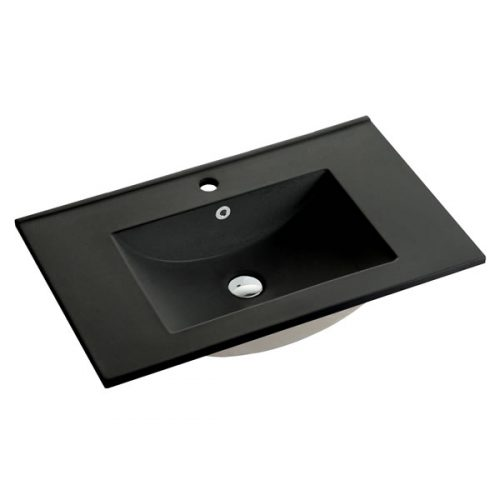 75cm Ceramic Vanity Top Matt Black
