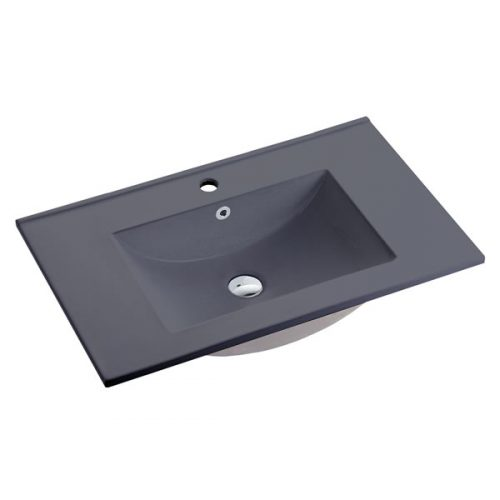 75cm Ceramic Vanity Top Matt Grey