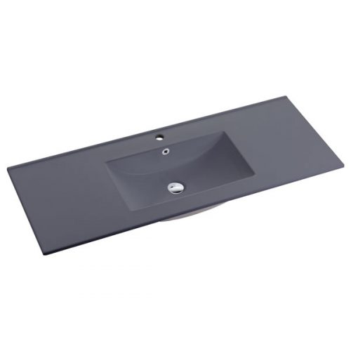 120cm Ceramic Vanity Top Matt Grey