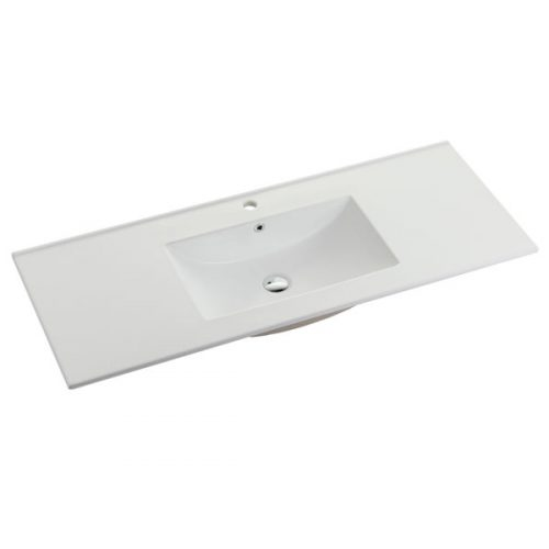 120cm Ceramic Vanity Top Matt White