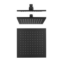 Cube Black Brass Shower Head