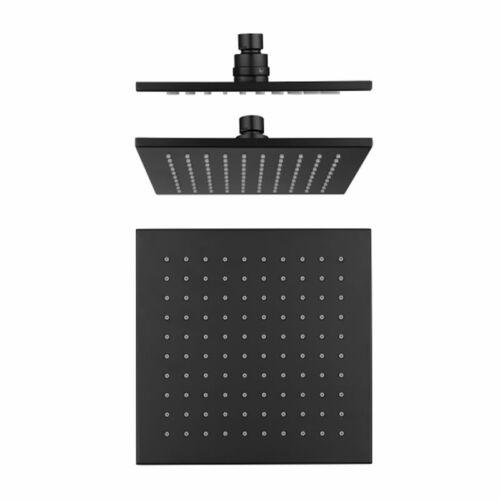 Cube Black Brass Shower Head