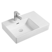 Cube Wall Basin Left-hand Bowl