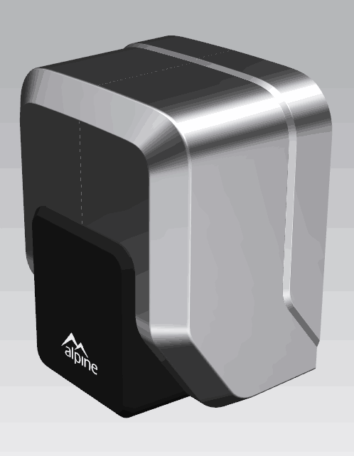 High Speed Hand Dryer - side view