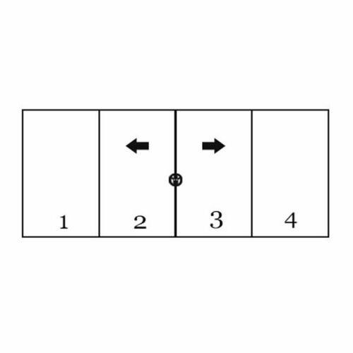 Double Sliding Doors Opening