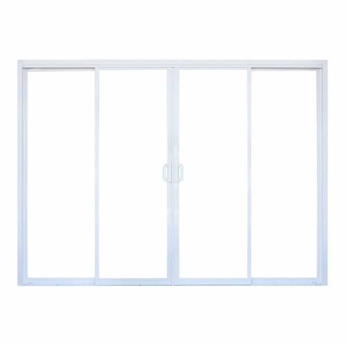 Double Sliding Doors in Pearl White