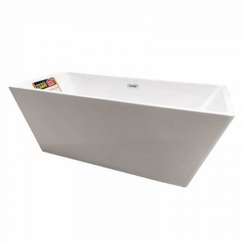Charli Freestanding Bath - side angle