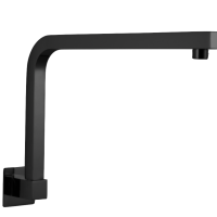 Square Swivel Shower Arm – Gunmetal Grey