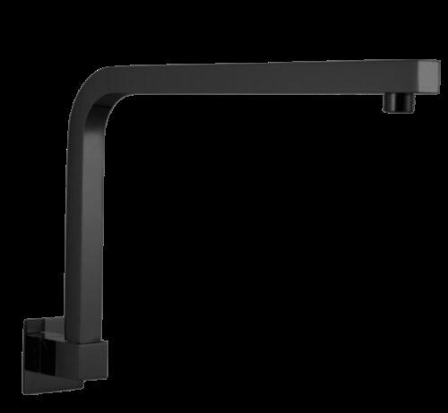Square Swivel Shower Arm – Gunmetal Grey