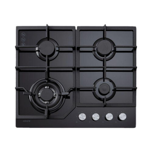 60cm Gas on Glass Cooktop ECT600GBK