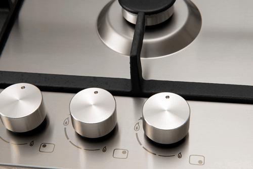 60cm Gas Slimline Cooktop E60CTWX control knobs