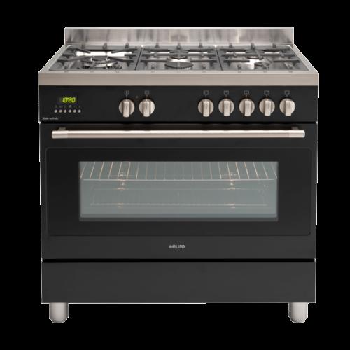 EFS900DBL – 90cm Black Dual Fuel Freestanding Oven