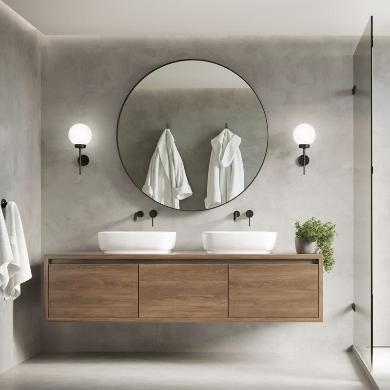 Brooklyn Round Mirror Mirrors, Mirror For Bathroom
