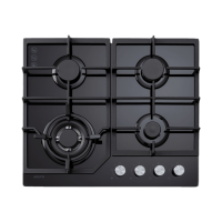 ECT900GBK – 90cm Gas on Glass Cooktop