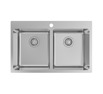 Nugleam Edge 1TH Double Bowl INTERIOR • KITCHEN • KITCHEN SINKS